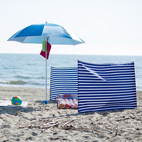Dmail - Lona cortavientos para playa y camping con piquetas