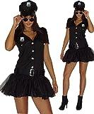 maylynn 13709 - Costume da poliziotta Sexy - Vestito con Cappello - Nero - S - 44/46