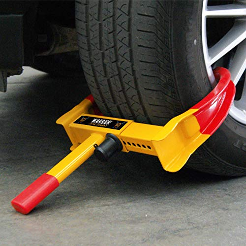 Warrior WA820 Wheel Clamp Theft Security, Universal, Adjustable Cars, Caravans, Trailers, PVC Protection, Anti-Drill Lock