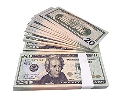 Copy Money Full Print 2 Sides,Prop Money 2000 Dollar Bills for Movies,TV,Music Videos by BUT002