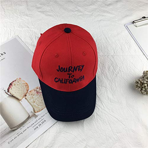 mlpnko Kinder Hut Nähen Farbe Mode Sport Baseballmütze Männer und Frauen Baby lässig Brief Mütze Flut rot 3-7 Jahre alt 52cm