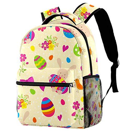 Kinderrucksack Osterhase Schulrucksack Schultasche Teenager Rucksack Backpack Mädchen Jungen Kinder 29.4x20x40cm