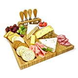 joeji's Kitchen Set de Regalo de Tabla de quesos | Tablas de Queso de bambú Tabla para qu...