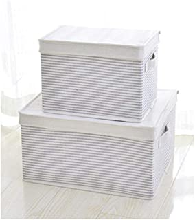 Boîtes de rangement, grande capacité, coton et lin épais, boîte de rangement pliable, boîte de rangement en tissu pour vêt...
