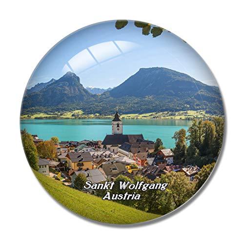 Sankt Wolfgang Österreich 3D Kühlschrank Magnet Whiteboard Magnet Souvenir Kristallglas