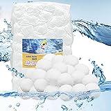 Leeyunbee Bolas de filtro para instalaciones de filtro de arena, 700 g, repuesto de 25 kg de arena de filtro, bolas de filtro para piscina, material de filtro para sistema de filtro de piscina
