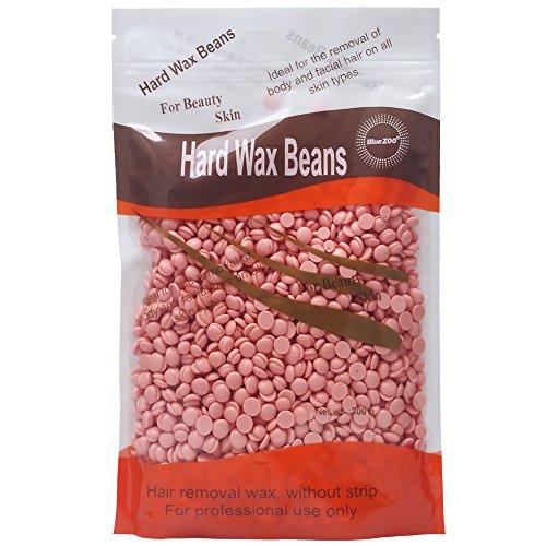 BlueZoo Cire dépilatoire en perles épilation cire en perles cire chaude Waxing Hair Removal Wax Beans sans bandes 300 g (Rose)