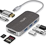 TSUPY HUB USB C HDMI, Adaptador USB C OTG con HDMI 3 USB3.0 5Gbps Type C Carga Power Delivery Lector de Tarjetas SD/TF Docking Station para Macbook, Más Dispositivos di Tipo C