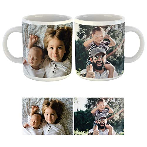 Personalised Two Photo Upload Collage Mug (10oz) Personalise with a 2 Photo...