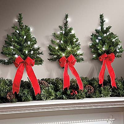 new arrival Set of 3 LED White Lights w/ Timer Wireless discount Battery Operated Wall Hanging Swag outlet online sale Wreath Christmas Tree Decor Red Bow Faux Pine Greenery Indoor Home Accent Lighted Decoration online sale