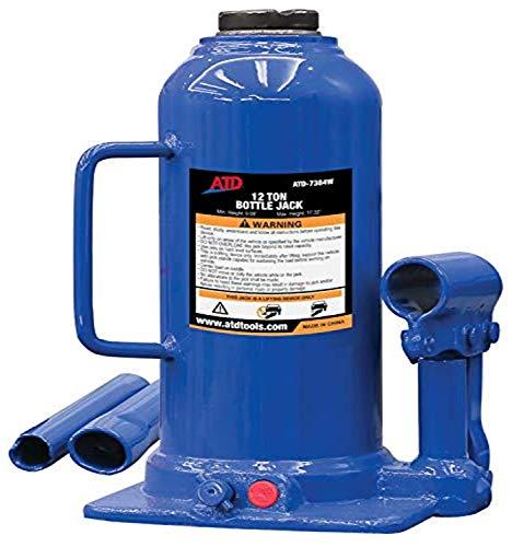 ATD Tools 7384W 12 Ton Heavy-Duty Hydraulic Side Pump Bottle Jack, 1 Pack