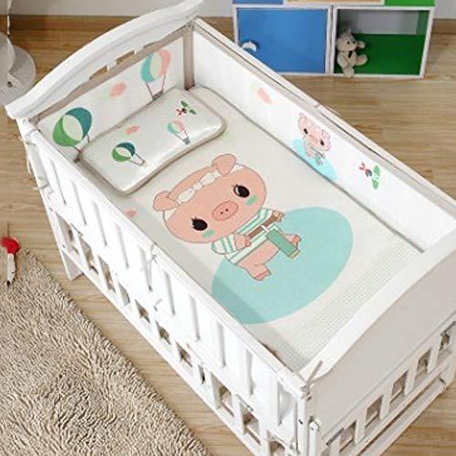 Doublure de lit en maille respirante pour bébé - Approuvé par les médecins - Empêche les bébés de se coincer dans les lattes de berceau, mini filet respirant