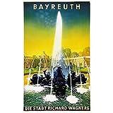 zkpzk Deutschland Reise Poster Bayreuth Die Stadt Richard