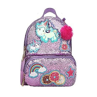 Hifot Unicornio Mochilas para Niñas, Mochila Lentejuelas Flip Mochilas Mochila Viaje Colegio para Niña