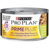 Purina Pro Plan Weight Control Senior Pate Wet Cat Food, PRIME PLUS Turkey & Giblets Entree - (24) 3 oz. Pull-Top Cans
