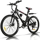 VIVI Bicicleta Eléctrica 250 W, Bicicleta Eléctrica de Montaña con Batería Extraíble 36 V/8Ah, Velocidad Máxima 25 km/h, 21 Velocidades, Kilometraje de Recarga hasta 40 km