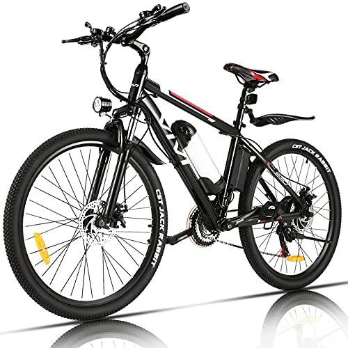 Vivi Bicicleta Eléctrica 250W, Bicicleta Eléctrica Montaña con Batería Extraíble de 36V/8Ah, Engranajes de 21 Velocidades/ 25km/h Kilometraje de Recarga hasta 40km, 26'