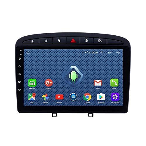 Android 8.1 Radio De Automóvil Para 2010-2016 PEUGEOT 308 408 Coche Estéreo GPS Navegación Toque Pantalla Coche Media Player Doble Din Head Unit Support WiFi Control De Volante(Color:4G+WIFi:2+32G)