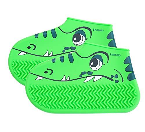 Lemmy New Kinder Schuhüberzieher, Regenschuhe Kinder, Regenstief Kinder, grün, (Krokodile, Größe21/22/23)