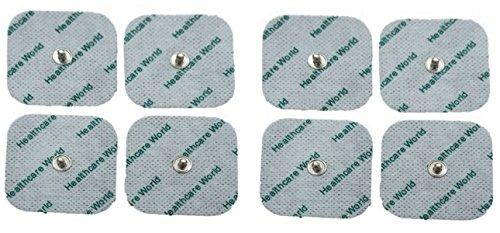 TENS Electrodos Para Beurer EM 40, EM 41, EM 80 Y OTROS Paquete de 8