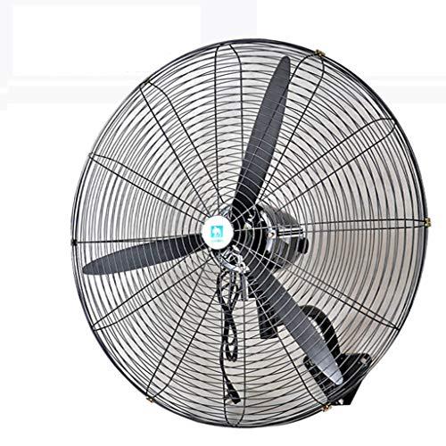 Ventilador electrico Ventilador de Pared Grande, Industrial/Comercial con Giro de huracán/Cabezal de Sacudida, Ventilador de bocina de Alta Potencia y bajo Nivel de Ruido
