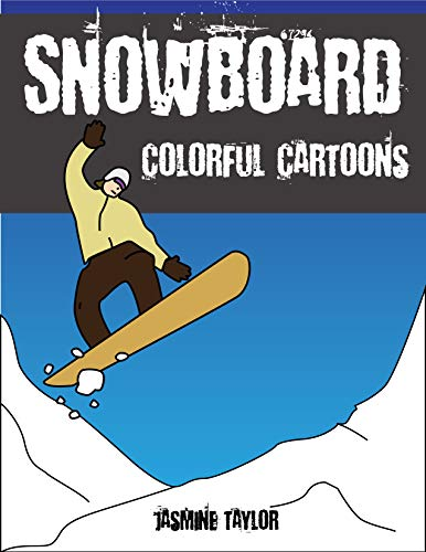 Snowboard Colorful Cartoon Illustrations (English Edition)