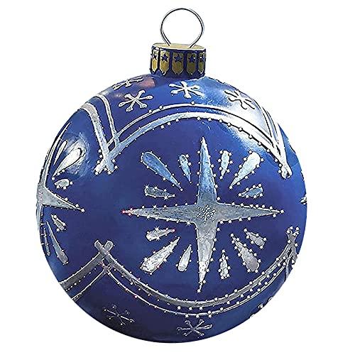 Aufblasbare Weihnachtskugeln-Dekorationsball 60 cm Riesen Weihnachtsaufblasbarer PVC Weihnachten Aufblasbar Ball Weihnachtsaufblasbare Außendekorationen (C#3)