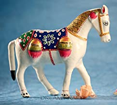 DreamKraft 6 Inch Paper Mache Horse Showpiece Idol for Home Décor and Gift Purpose
