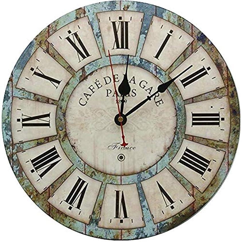 余暇読書快適装飾的な壁掛け時計、サイレント壁掛け時計非刻々と動くリビングルームキッチンバスルーム寝室ラウンドヴィンテージの装飾