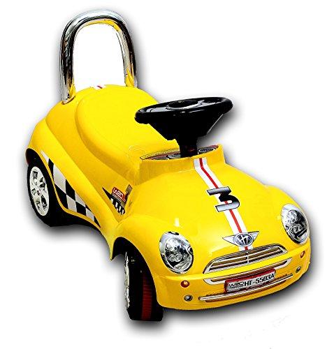Best For Kids Top Rutscher Auto Autorutscher mit Elektronik Porsche Rutscherfahrzeug - gelb