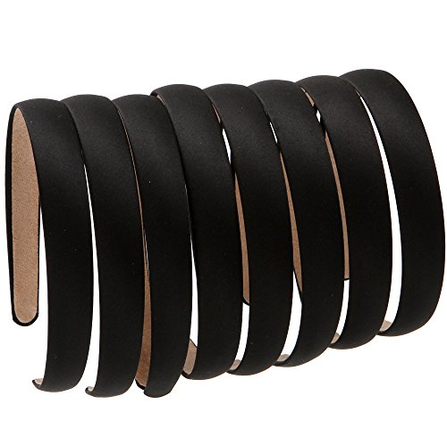 LONEEDY 8 Hard Headbands, 2cm Wide Non-slip Ribbon Hairband for Women