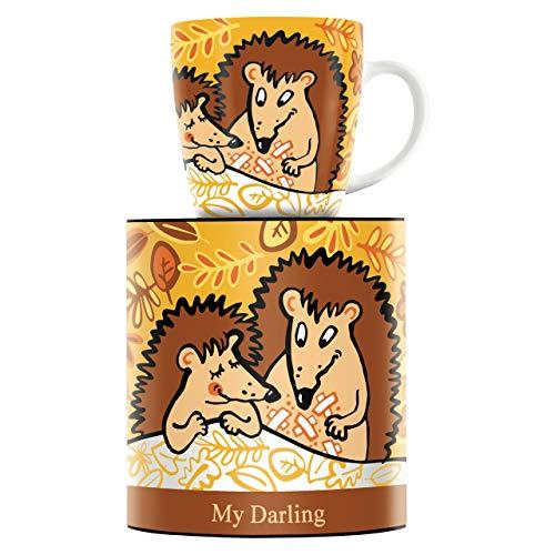 RITZENHOFF My Darling Kaffeebecher von Martina Schlenke, aus Porzellan, 300 ml, mit trendigen Motiven