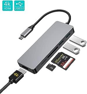 STRENTER USB C ハブ 5in1 高速 USB Type C ハブ 4K HDMI出力 USB3.0 ハブ SD/Micro SD カードリーダー マイクロ タイプC HDMI 変換 アダプタ コンパクト MacBook MacBook Pro/Air/ChromeBook対応 グレー