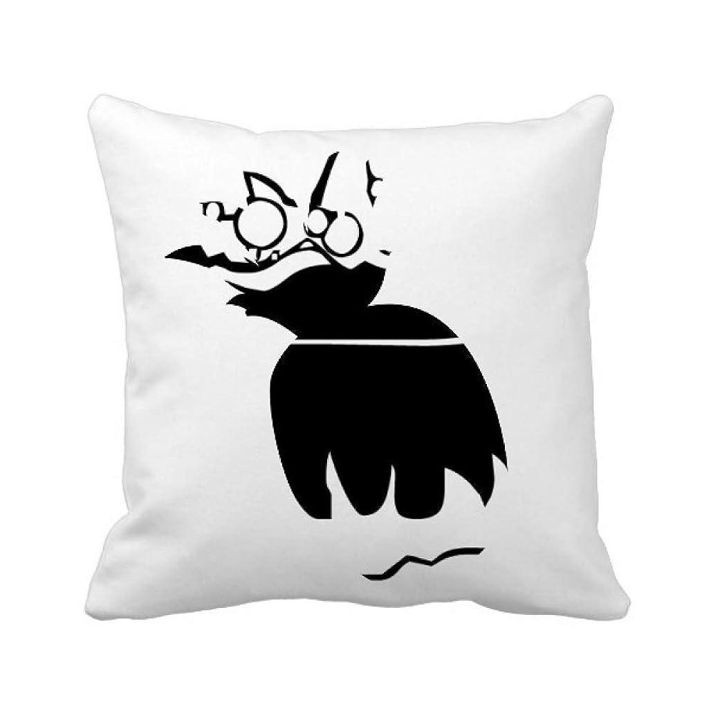 瞑想するハンサム遺棄された火恐怖のハロウィーンハッピー パイナップル枕カバー正方形を投げる 50cm x 50cm