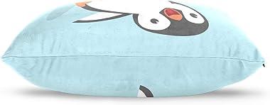 VOUSME Cute Animal Penguin Pillowcase Cotton Velvet 20 x 36 Inches Double Sided Pillow Case Decorative Pillow Cover Protector