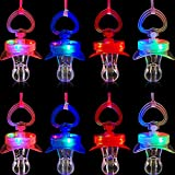 8 Pieces Led Light Up Pacifier Necklace...