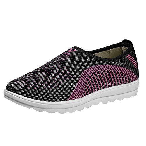 Zapatos Ligeros de Malla Transpirable para Caminar al Aire Libre para Mujeres Zapatillas Trail Running Mujer Cómodos Calzado Plana Casual Mocasines Trekking Senderismo Yvelands(gris,39)