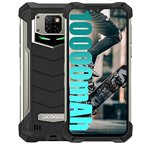 DOOGEE S88 Plus (2021) 4G Smartphone 10000 mAh, 8 GB + 128 GB, cámara 48 MP + 16 MP, 6.3 'FHD, Android 10.0, LED de notificación, IP68/IP69K, antigolpes, resistente al agua/NFC, color negro