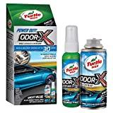 Turtle Wax Odor-X Whole Car Blast Kit with Car Bomb and Travel Spray Air Freshener (New Car Scent)