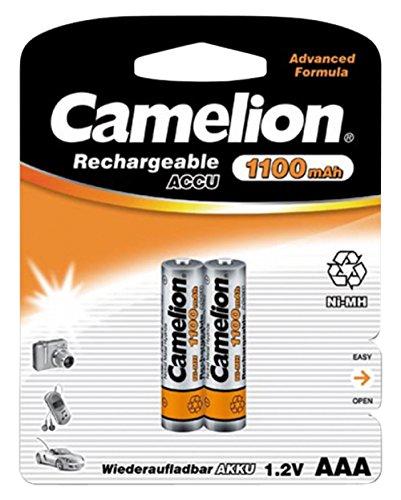 Micro-Akku CAMELION 1,2 V, 1100 mAh, Typ AAA, NiMH, 2er
