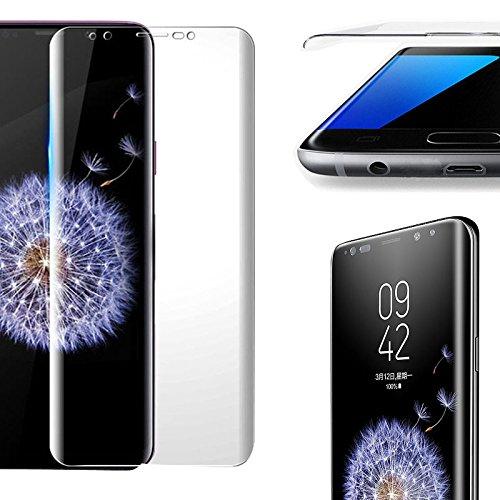 Eximmobile 3D Curved Panzerfolie für Samsung Galaxy S6 Edge+ abgerundet Full Cover Glasfolie (klar) Displayschutzfolie gebogen Displayschutzglasfolie 9h Schutzglasfolie Schutzfolie Folie Displayfolie