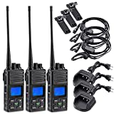 2 Way Radio 5 Watt Long Range, SAMCOM 20 Channels Programmable Walkie Talkie,Rechargeable Hand-held UHF Business Ham Radio for Outdoor Hiking Hunting Travel,3 Packs