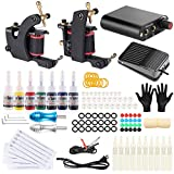 Stigma Tattoo Kits Complete 2 Pro Coil Machine Guns 7 Inks Professional Power Supply Foot Pedal for Liner and Shader TK-ST202