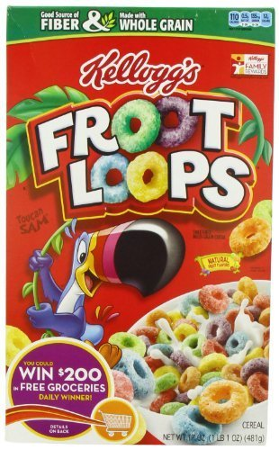 Froot Loops Cereal, Sweetened Multigrain, 17-Ounce Boxes (Pack of 3) by Froot Loops