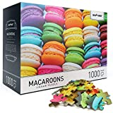 """Newverest Jigsaw Puzzles 1000 Piece for Adults, Educational Difficult Puzzle with Colorful Image - Large 27.5"""" x 19.7"""", Include Unique Gift Package Storage Box - Fun Macaroons Jigsaw Puzzle"""