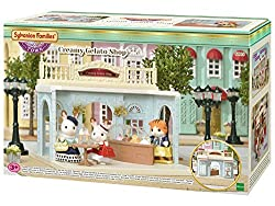 The set includes a lovely sky-blue shop building, elegantly designed with gorgeous engravings, a counter, table and a delicious array of gelatos Connects to Ride Along Tram, Designer Studio, Grand Department Store, and Delicious Restaurant Great for ...