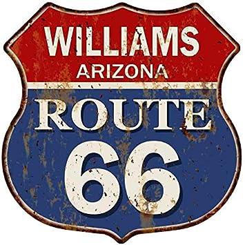 ARIZONA Route 66 Shield Metal Sign Man Cave Garage 211110013018 WILLIAMS