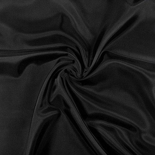 Fabulous Fabrics Futterstoff schwarz, 140cm breit – zum Füttern von Jacken, Kleidern oder Mänteln - Meterware erhältlich ab 0,5 m