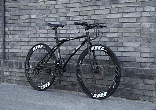 Le biciclette da uomo e da donna Road, a 24 velocità da 26 pollici, biciclette per soli adulti, acciaio al carbonio, telaio strada biciclette da corsa, biciclette con ruote a doppio disco freno,Bianca