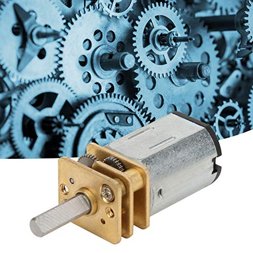 Jarchii [Xmas Present] 6mm Gear Motor, DC6V High Torsion 600RPM/800RPM/2000RPM Low Noise All-Metal Structure Gear Box for Electric Vehicles Industrial Fans Construction Machinery(800RPM)